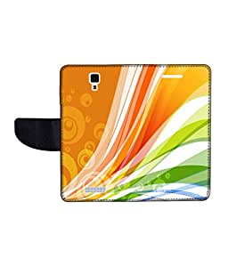 KolorEdge Printed Flip Cover For Gionee Pioneer P4 Multicolor -(45keMLogo12180GioneeP4)