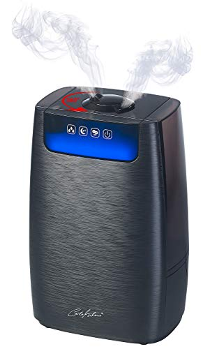 Carlo Milano Befeuchter: Ultraschall-Aroma-Luftbefeuchter & -Reiniger HEPA & Ionisator LBF-400 (Luftreiniger mit Ionisator)