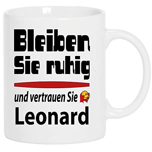 XXL Becher 450ml Weiss + Fussballtasse Leonard bleibt ruhig + WM Pott 2018.' Siehe auch Produktbild 2.