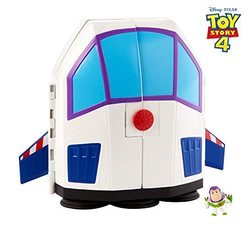 y Pixar Toy Story 4 Minis Buzz Lightyear Jahrmarkt Figuren Spielset Transportkoffer mit Griff, Spielzeug ab 3 Jahre ()