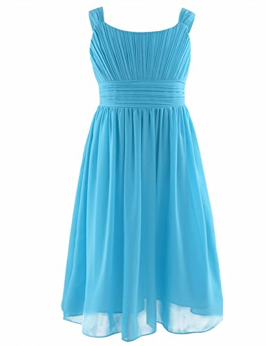 YiZYiF Girls Pleated Chiffon Flower Dress Wedding Bridesmaid Birthday Party Summer Dance Prom Dresses