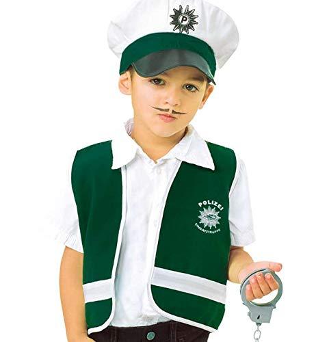 Privatdetektiv Kostüm - KarnevalsTeufel Polizeiweste, Spiel-Weste für Kinder, Polizei (Gr.104)