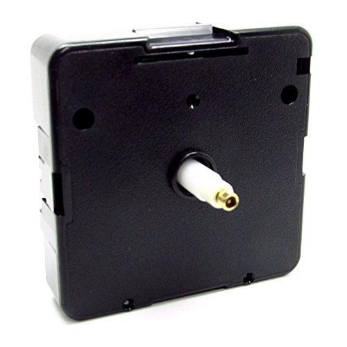 Quarzo di ricambio UTS tedesco Euroshaft movimento meccanismo motore 16mm Shaft - Clock Faces 4-6mm Thick Nero