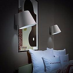 ZhuoYuan moderna Lámpara de pared Estilo escandinavo moderno y minimalista apliques PASILLO pasillo dormitorio cama escalera de yeso blanco apliques de pared