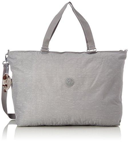 Kipling Xl Bag, Bolso Bandolera para Mujer, Gris (Clouded Sky), 15x24x45 cm...