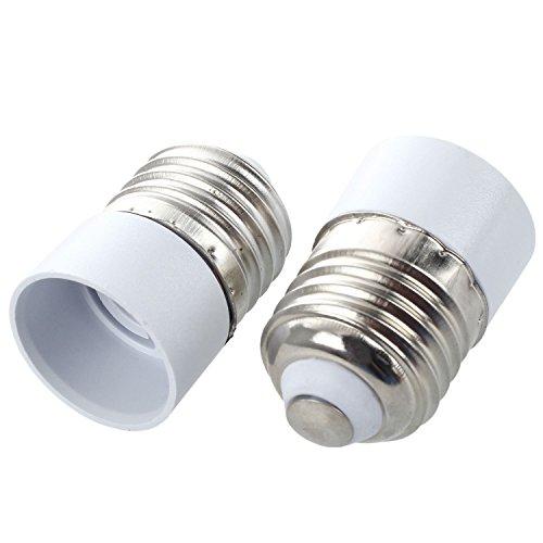 TOOGOO(R) 10-Stecker auf E27 E14 Buchse Base LED-Licht-Lampe Birnen-Adapter-Konverter - Base Metall-halogen-lampe