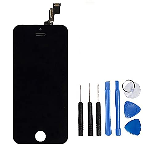 LL TRADER LCD for iPhone 5s Black Display Digitizer Glass Lens Assembly Touch Screen Replacement with Repair Tool