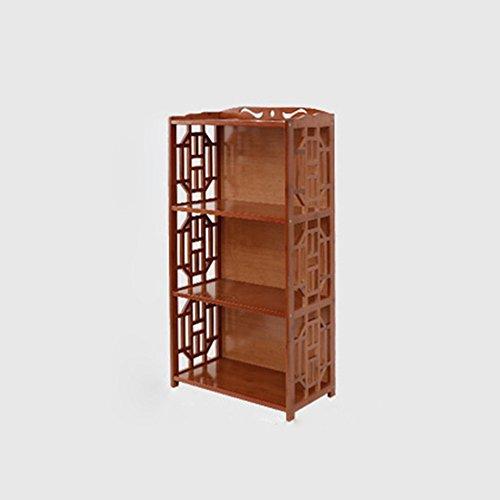 Bibliothèque Sexy 2/3/4-niveau Bambou étagère Haute capacité Petite Solide Bois Rangement Armoire Combinaison vin Rouge (Taille : 70 * 29 * 100cm)