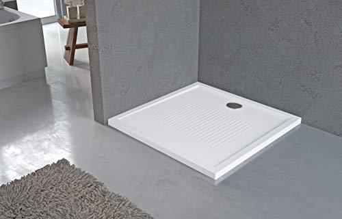 NOVELLINI Olympic Plus - Piatto doccia rettangolare, Bianco, 140x70x4.5 cm