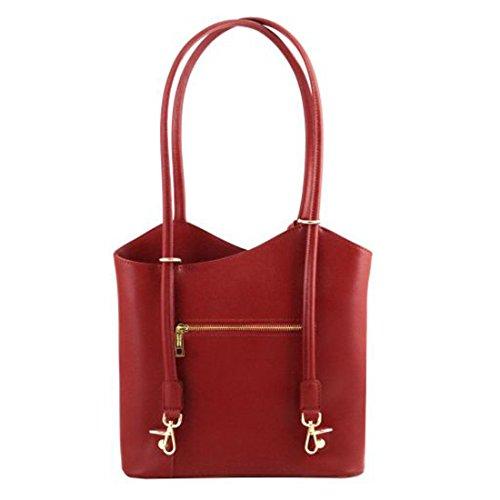 Tuscany Leather Patty - Borsa donna convertibile a zaino in pelle Saffiano - TL141455 (Rosso) Rosso