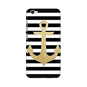 Mobicture Abstract Anchor Premium Printed High Quality Polycarbonate Hard Back Case Cover for Vivo V5 With Edge to Edge Printing