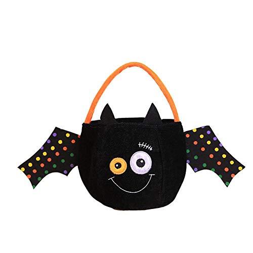 Sacs à bonbons d'Halloween Trickortreat Pumpkin Black Cat Panier Cadeau Traick-or-Treat Goody pour enfants