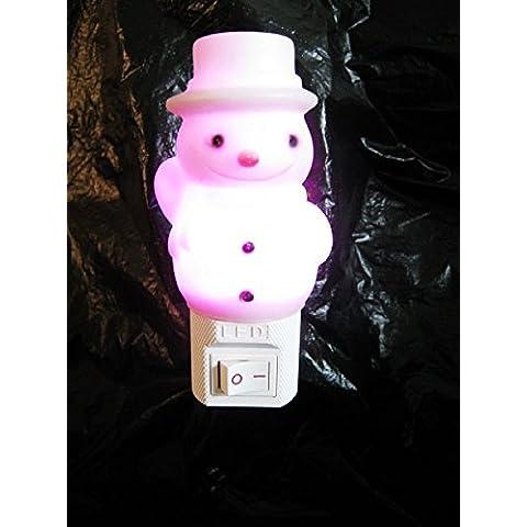 Nene–Stivali da spina colore luce notturna Night Light Cartoon 220V pupazzo di neve - Medio Dei Dipendenti Regalo