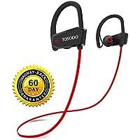 Wireless Bluetooth Headphones - TOSCiDO X18 Earphones IPX7 Sweatproof CVC6.0 Noise Cancelling Stereo Bluetooth Earphones 4.1, Sports Headset for iPhone X 8 7 7S 6 6S, Android Smartphones-Red