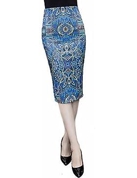 De las mujeres Faldas-Hasta la Rodilla Tallas Grandes Microelástico-Algodón , s
