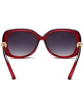 Ilove EU Mujer Gafas de sol ojo de gato vasos Wayfarer Gafas con anillo de metal AM Bügel 4colores a elegir.