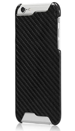 PITAKA Edizione Limitata Case di Lusso in Carbonio Lucido e Brillante Magra Compatibile Con iPhone 6 Plus (5,5 Pollici) Nero (estetica taglio)