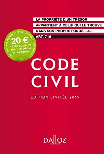 Code civil 2015 Édition limitée - 114e éd.