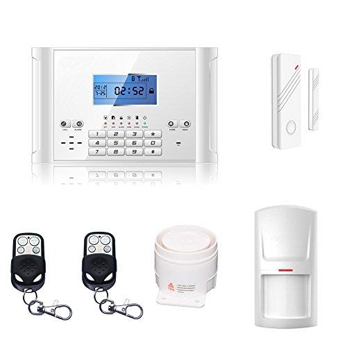 ABTO M2C komplettes drahtloses GSM Home Security Alarmanlage als Einbruchschutz Sicherheit durch Bewegungsmelder und Türsensoren