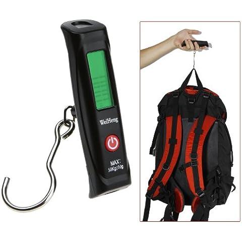 syalex (TM) 50kg/10g elettronico display LCD digitale portatile bagagli Scala Pesca Gancio Peso Peso ponderazione bilancia