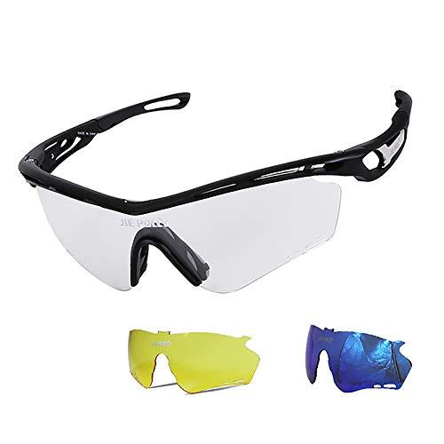 JW-DDP Farbwechselnde Radsportbrillen, Wind- und staubdichte Brillen, polarisierte Sonnenbrillen für den Outdoor-Sport -