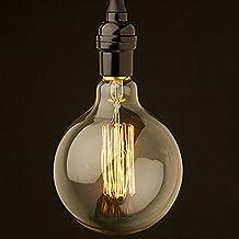 Kingso 1 bombilla incandescente Edison, 40 W, rosca E27, 220 V, diseño retro de globo