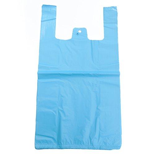Starke Westen-Tragetaschen aus Kunststoff, 18Mu, 27,9x 43,2x 53,3cm, blau, 100 Stück