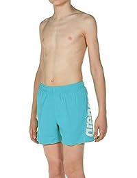 arena Jungen Badeshorts Fundamentals Logo Boxer Junior (Schnelltrocknend, Mesh- Innenslip, Seitliche Taschen)