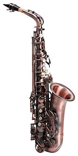 Classic Cantabile Winds AS-450 Es Altsaxophon Antique Red (Messing, Vintage Lackierung, Hoch-Fis-Klappen, ergonomische Klappenmechanik)