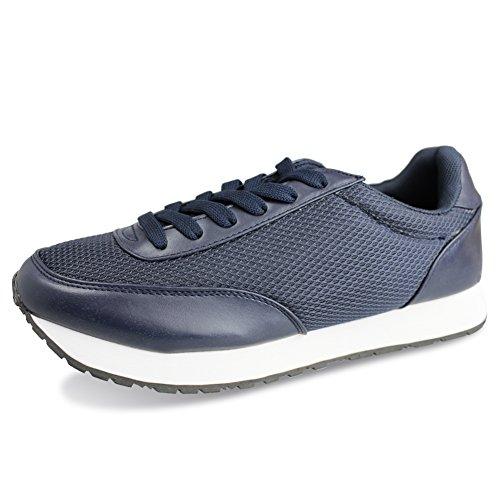 Hawkwell Uomo Scarpe da Ginnastica Basse Sportive Outdoor Running Sneakers turchino