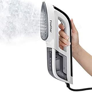 Finether Steamer for Clothes Handheld Steamer Travel Iron Portable Steamer Garment Steamer Home with Hot Dry Ironing│Nanocreamic Burning-proof│Quick Heat Up│2.4M Cable
