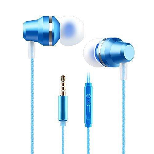 Wandregal Josi Minea 3,5mm Premium HD Kopfhörer-Stereo Kopfhörer Headset mit Lautstärke, Play/Pause Controller & integriertes Mikrofon, königsblau