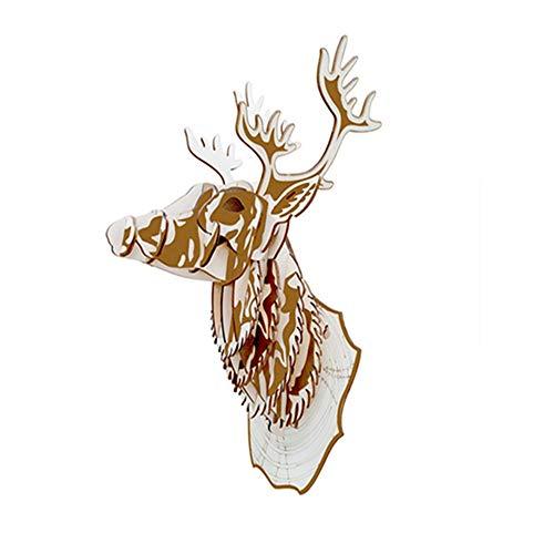Puzzle Stück, Tier Hirsch Hirsch Modell Aus Holz Handgefertigte Junge Mädchen Pädagogische Spielzeug Ornamente Kreatives Geschenk ()