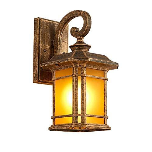 DLINMEI Industrielle Outdoor-Wandleuchte Stil im Alter von Zinn gebürstet Vintage Wandleuchte Metallwandleuchten 1 Licht Outdoor Wandleuchten Flur Wandleuchte (Farbe : Bronze-Large) -