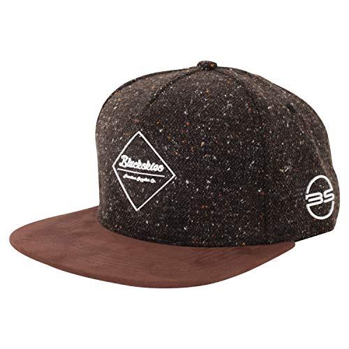 Blackskies Snapback Cap Schwarz Braun Grau Wolle Schirm Unisex Premium Baseball Mütze Kappe, Osiris, Einheitsgröße