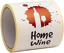 Las etiquetas de vino por vino hecho en casa decisiones- despegar y pegar de gran tamaño 9 x 12 cm - Pack de 100