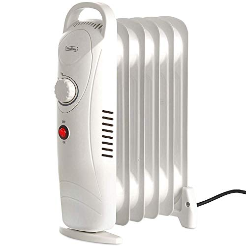 Mini radiador Lleno de Aceite 800W H 38 X L'28 X D14cm 6 Aletas - Calentador eléctrico...