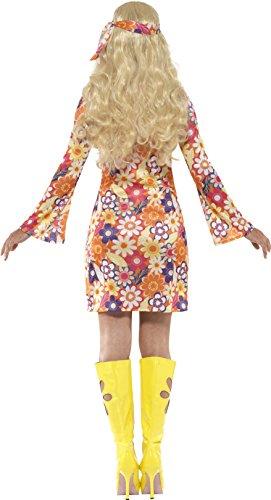 Imagen de smiffy 's–disfraz de hippie de flores de women 1960 tamaño mediano  alternativa