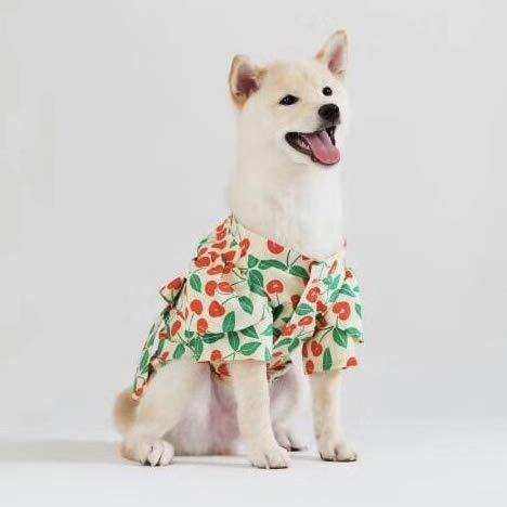 lipanpan Cherry Kimono Schmetterlingsknoten Bademantel!Haustier Katze Hund Kostüm Holz Hund Kleidung