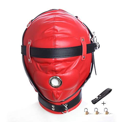 Zurückhaltung Maske Kostüm - YC Leder Bondage Gimp Maske Haube,