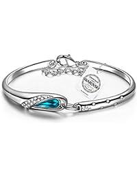 """Pauline & Morgen """"Cendrillon"""" Bracelet pour femme composés de cristaux Swarovski"""