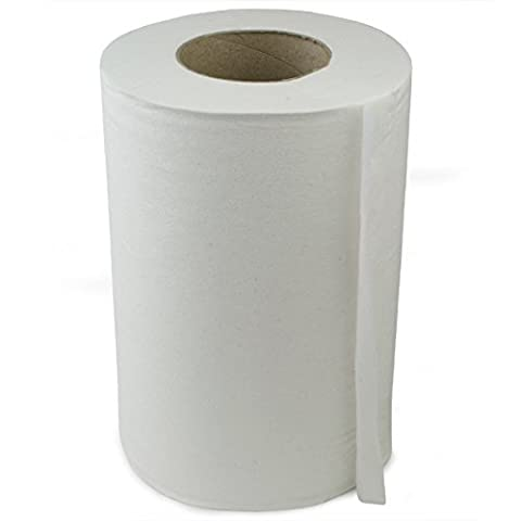 Mini Centre Feed Rolls White - Pack of 12 - 130 Metre Roll of Paper Hand Towels