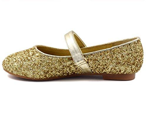 Greatonu, Mädchen Ballerinas Gold