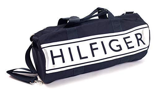 Tommy Hilfiger Mens Navy Blue and Silver Duffle Bag ...