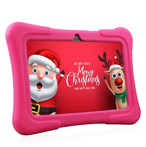 tablet dragon touch Dragon Touch Y88X Plus Tablet per Bambini 7 Pollici Wi-Fi e Bluetooth IPS HD 1024 * 600 Android 8.1 Quad Core 1 GB RAM 16 GB Rom Kidoz e Google Play preinstallato con Kid-Proof Custodia (Rosa) ...