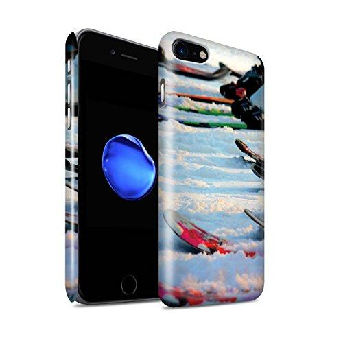 STUFF4 Glanz Snap-On Hülle / Case für Apple iPhone 8 / Ski Aufzug Muster / Skifahren/Snowboard Kollektion Wintersport