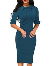 7f5a44df179 OverDose Damen Frauen Vintage Schulterfrei Spitze Formale Rockabilly Abend  Party Kleid Langarm Kleider · EUR 13