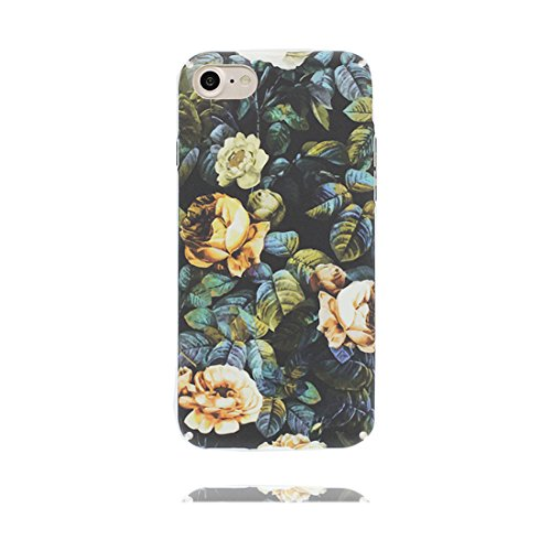 iPhone 7 Custodia Case, iPhone 7 Copertura 4.7, Disegno unico del materiale di TPU Cartoon Stylish Durable Indietro Cover, Graffi Resistenza agli urti # Fiore Multiflora Rose Color 5
