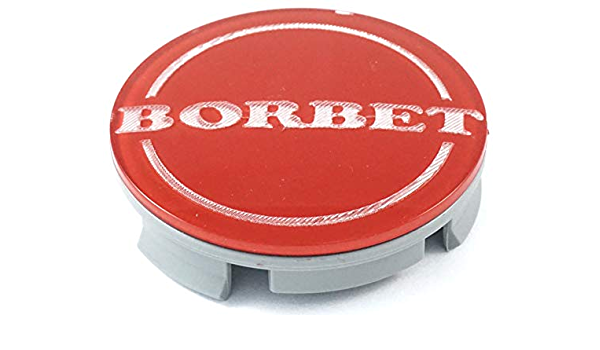 1x Original Borbet Nabendeckel Felgendeckel Nabenkappe Rot Center Cap 55mm Neu Auto