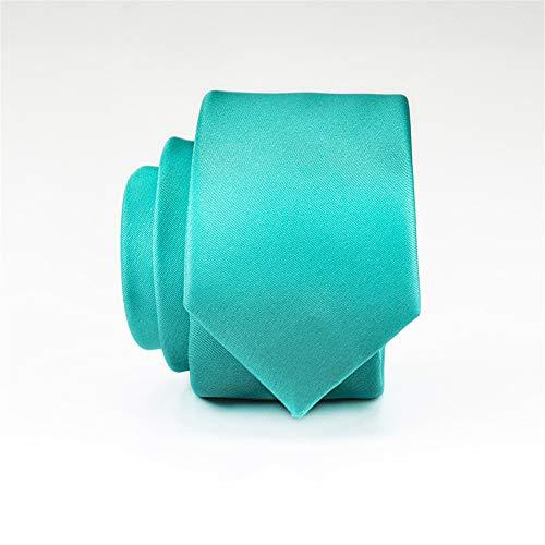 WUNDEPYTIE 5Cm Kleid Business Kleine Krawatte Männer Koreanische Version Der Hochzeit Bräutigam Schmale Männer Und Frauen Krawatte, Tiffany Blau